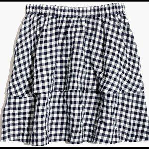Madewell Two-Tier Gingham Skirt
